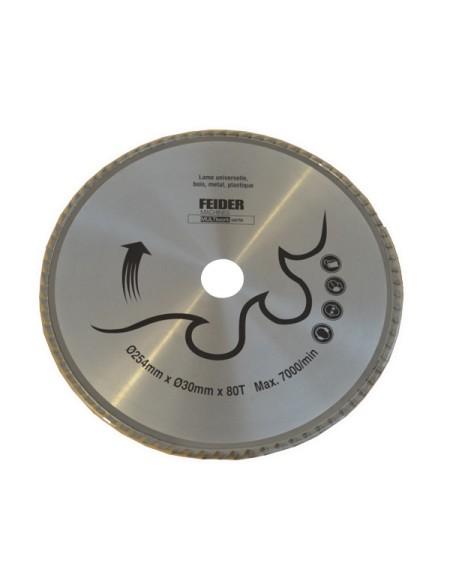 FEIDER Cuchilla universal multimaterial 254 mm - F254LU