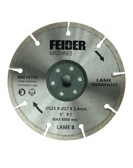 FEIDER Cuchilla diamante 125 mm para FDL125-1 - FDL125DB